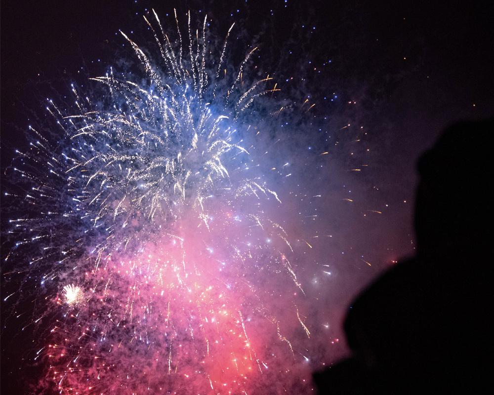 Feuerwerk bei Cablesport